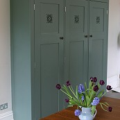Painted oak kitchen cupboard